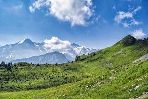 mountain, alps, hills